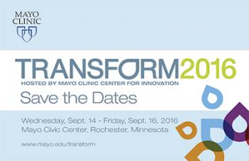 InterGroup Institute for Understanding Chair George C. Halvorson to speak at the Mayo Clinic's annual Transform conference.