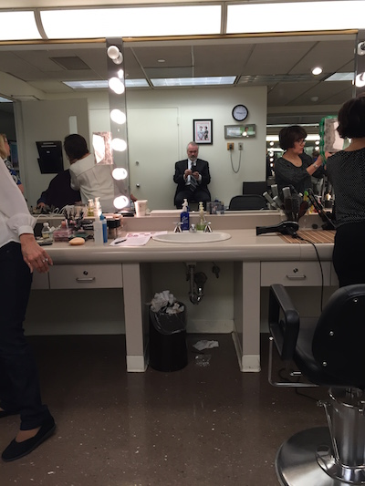 George Halvorsan backstage at the Dr. Oz Show